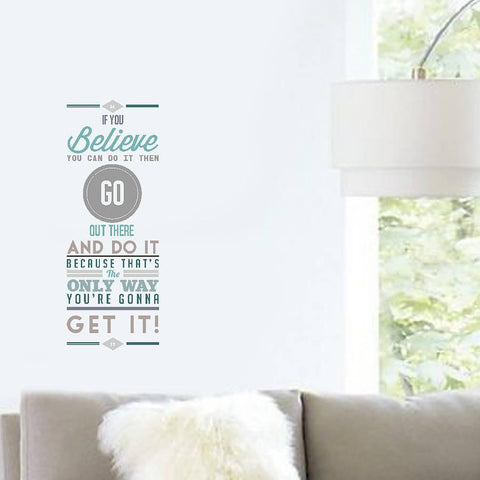 'If You Believe' Vinyl Wall Sticker - Oakdene Designs - 1