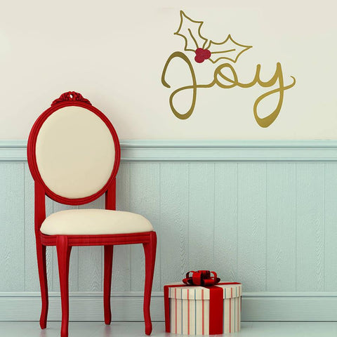 'Joy Christmas' Gold Wall Sticker - Oakdene Designs - 1