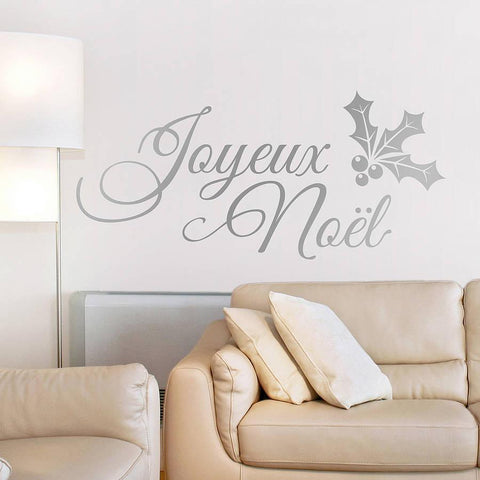 'Joyeux Noël' Vinyl Wall Sticker - Oakdene Designs - 1