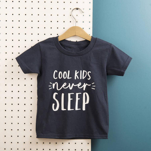 Kids 'Cool Kids Never Sleep' Cotton T Shirt