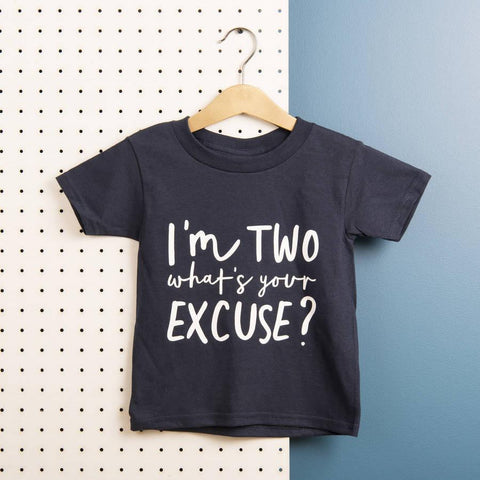 Kids 'What's Your Excuse' Cotton T Shirt