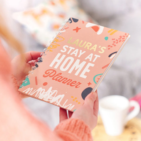 Personalised 'Stay At Home' Daily Planner Diary