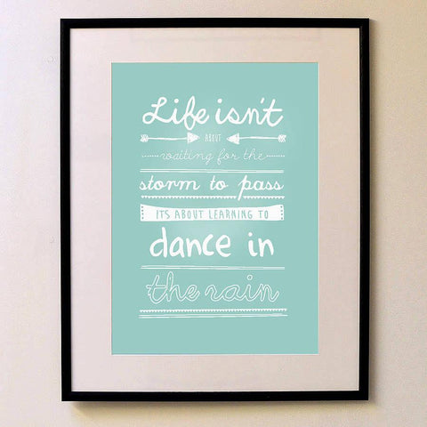 'Learning To Dance In The Rain' Print - Oakdene Designs - 1