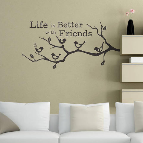 'Life Is Better With Friends' Wall Sticker - Oakdene Designs - 1