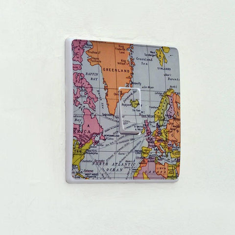 Map Light Switch Sticker - Oakdene Designs