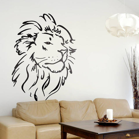 Lion Head Wall Sticker - Oakdene Designs - 1
