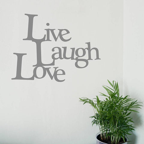 'Live, Laugh, Love' Vinyl Wall Sticker - Oakdene Designs