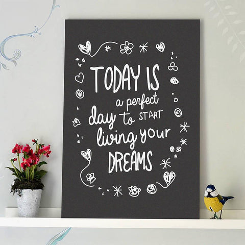 'Living Your Dreams' Typography Print - Oakdene Designs - 1