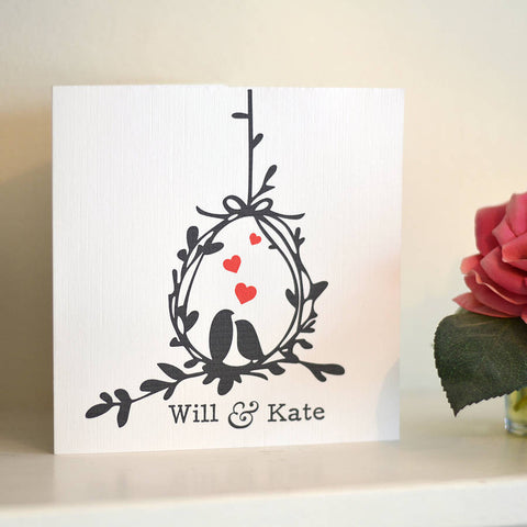 Love Birds Personalised Anniversary Card