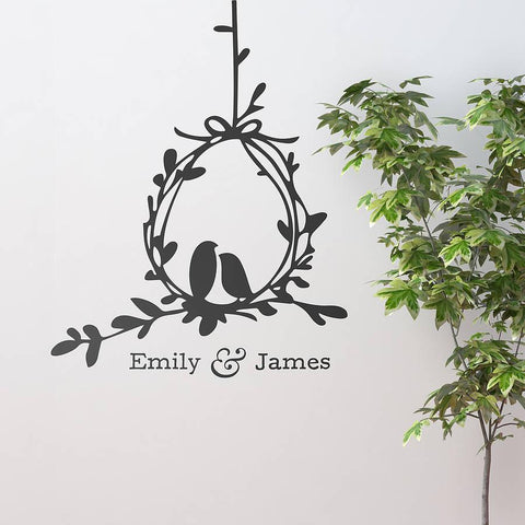 Love Birds Vinyl Wall Sticker - Oakdene Designs - 1