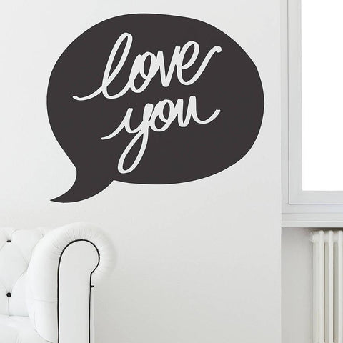 'Love You' Speech Bubble Wall Sticker - Oakdene Designs - 1