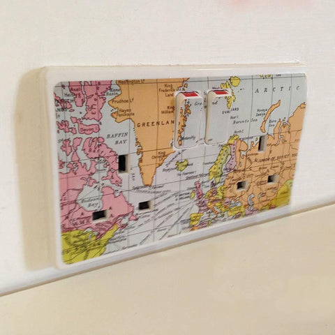 'Map Plug Socket Sticker' - Oakdene Designs - 1