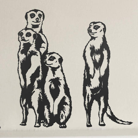 Meerkat Vinyl Wall Sticker Set - Oakdene Designs - 1