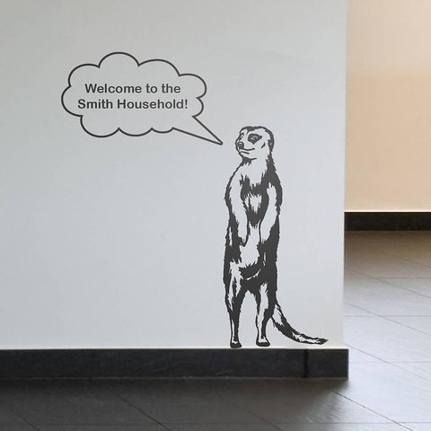 Mike the Meerkat Personalised Wall Sticker - Oakdene Designs - 1