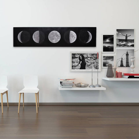 Monochrome Moon Phases Canvas - Oakdene Designs - 1