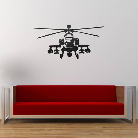 Apache Helicopter Vinyl Wall Sticker - Oakdene Designs