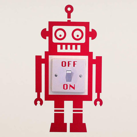 Robot Light Switch Vinyl Wall Sticker - Oakdene Designs - 1