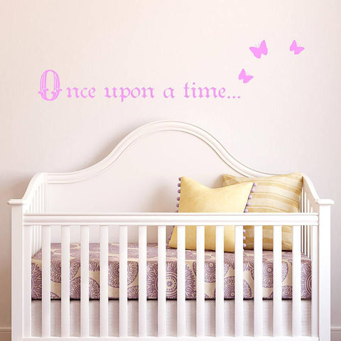 'Once Upon A Time…' Wall Sticker - Oakdene Designs