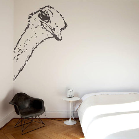 Ostrich Head Wall Sticker - Oakdene Designs - 1