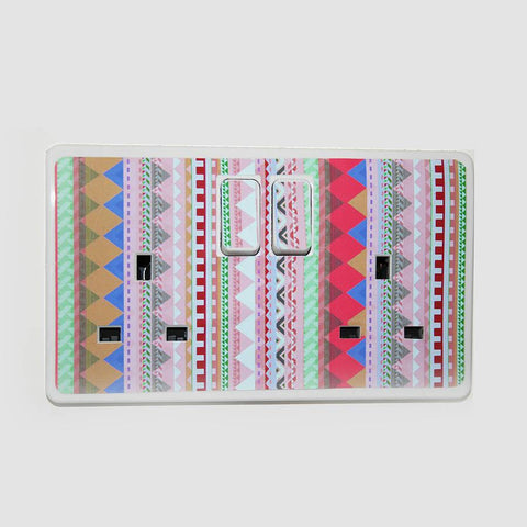 'Patterned Plug Socket Sticker' - Oakdene Designs - 1