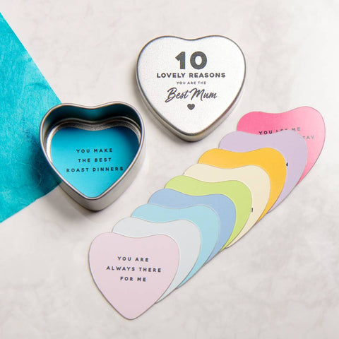 Personalised 10 Reasons You Are The Best Mum Heart Tin
