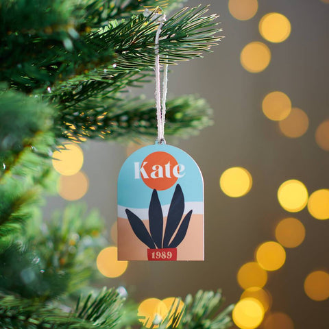 Personalised Abstract Name Hanging Christmas Decoration