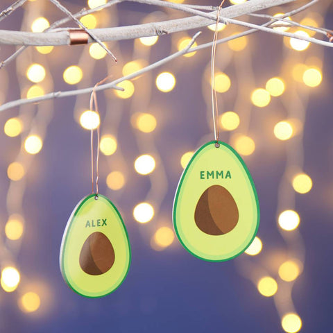 Personalised Avocado Christmas Tree Decoration