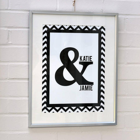 Personalised Ampersand Couples Print - Oakdene Designs - 1