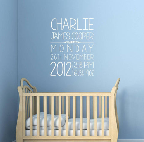 Personalised Kids Birthday Wall Sticker - Oakdene Designs - 1