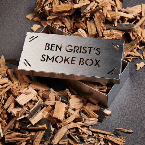Personalised BBQ Whisky Oak Smoking Box Kit