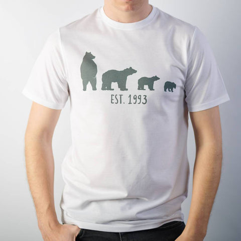 Personalised Bear Family White T Shirt