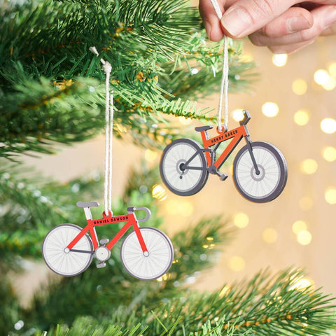 Personalised Bike Christmas Tree Decoration