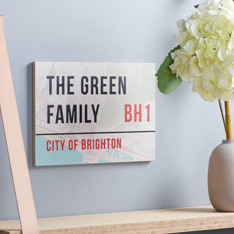 Personalised Birch Ply Map Street Sign