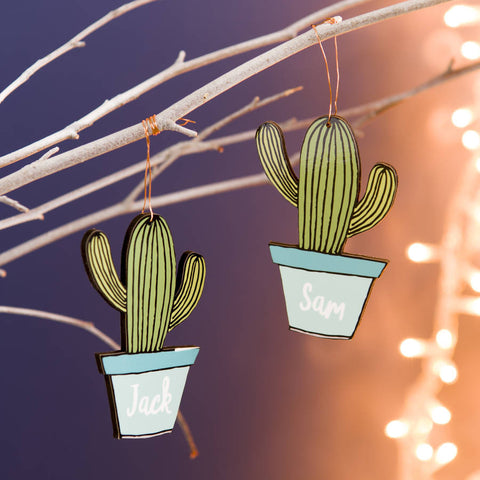 Personalised Cactus Decoration