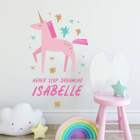 Personalised Children's Magical Unicorn Wall Sticker