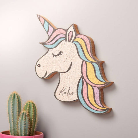 Personalised Unicorn Cork Pin Board