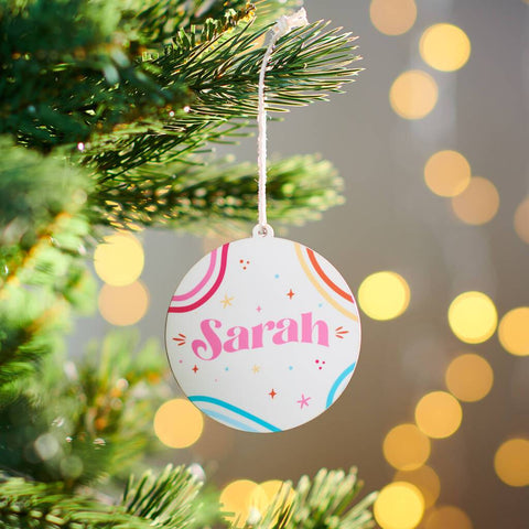 Personalised Colourful Name Bauble