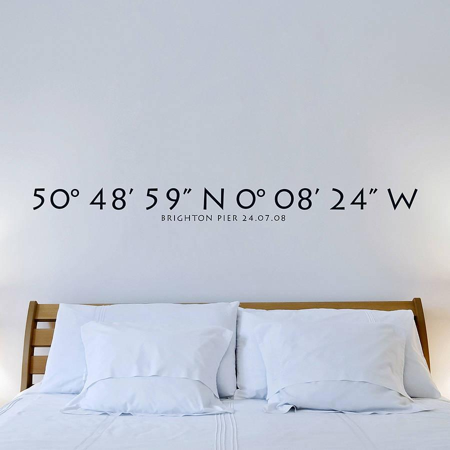 Personalised Coordinates Wall Sticker Wall Stickers Wall Decals