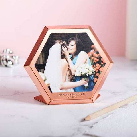 Personalised Copper Hexagonal Photo Print