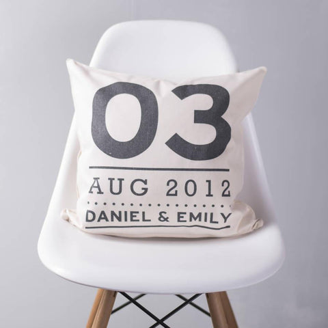 Personalised Couples Special Date Cushion