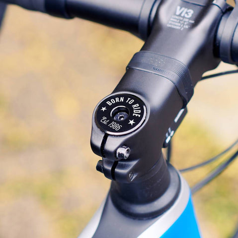 Personalised Date Bike Headset Cap For Cyclists