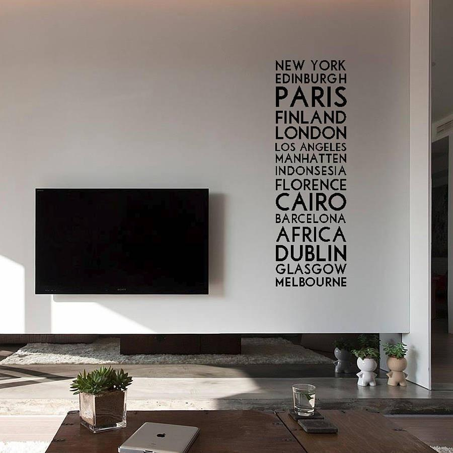 Personalised Destination Wall Sticker Wall Stickers Wall Decals