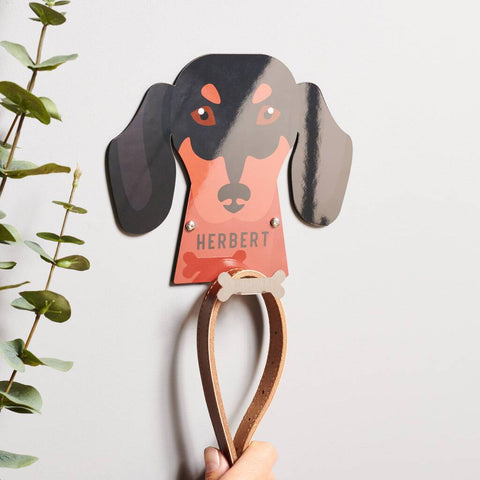 Personalised Dog Breed Lead Holder