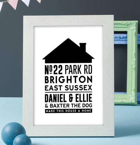 Personalised Family Home Typography Print
