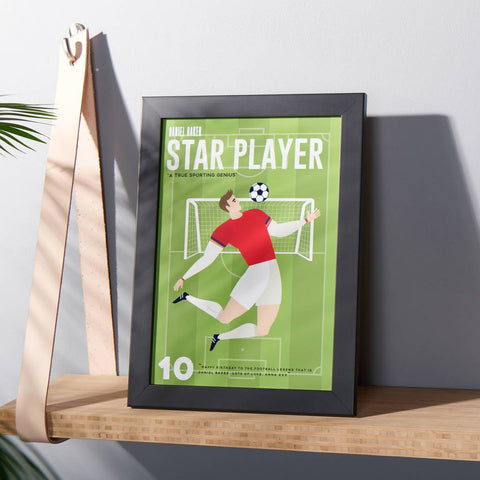 Personalised Retro Style Football Print
