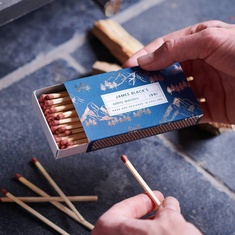 Personalised Foiled Mountains Matchbox And Matches