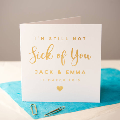 Personalised Gold Foiled Couples Anniversary Card