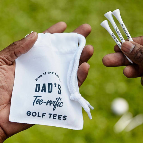 Personalised Golf Tees And Bag