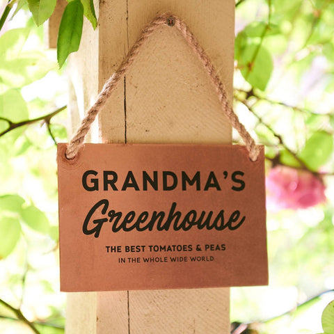 Personalised Greenhouse Copper And Rope Garden Sign