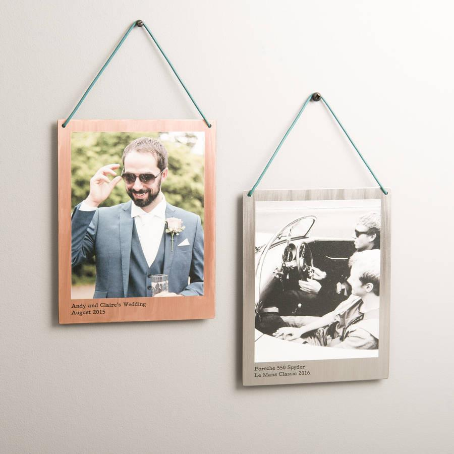 ab044c4262bb Personalised Hanging Copper And Steel Photo Print